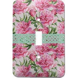 Watercolor Peonies Light Switch Cover (Single Toggle) (Personalized)