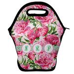 Watercolor Peonies Lunch Bag w/ Multiple Names