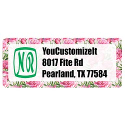 Watercolor Peonies Return Address Labels (Personalized)
