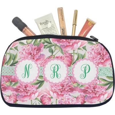 Watercolor Peonies Makeup / Cosmetic Bag - Medium (Personalized)