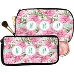 Watercolor Peonies Makeup / Cosmetic Bag (Personalized)