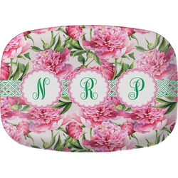 Watercolor Peonies Melamine Platter (Personalized)