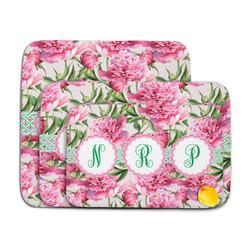 Watercolor Peonies Memory Foam Bath Mat (Personalized)