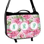 Watercolor Peonies Messenger Bag (Personalized)