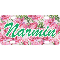 Watercolor Peonies Mini / Bicycle License Plate (Personalized)