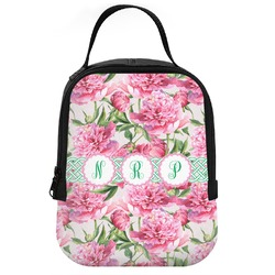 Watercolor Peonies Neoprene Lunch Tote (Personalized)