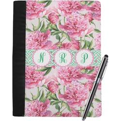 Watercolor Peonies Notebook Padfolio - Large w/ Multiple Names