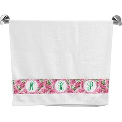 Watercolor Peonies Bath Towel (Personalized)