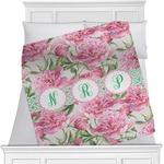 Watercolor Peonies Blanket (Personalized)