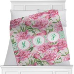 Watercolor Peonies Minky Blanket (Personalized)