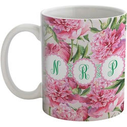 Watercolor Peonies Coffee Mug (Personalized)