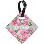 Watercolor Peonies Diamond Luggage Tag (Personalized)
