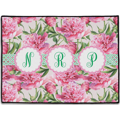 Watercolor Peonies Door Mat (Personalized)