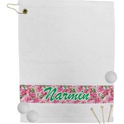 Watercolor Peonies Golf Towel (Personalized)