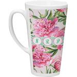 Watercolor Peonies Latte Mug (Personalized)