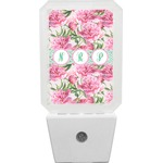 Watercolor Peonies Night Light (Personalized)