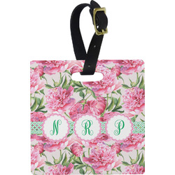 Watercolor Peonies Luggage Tags (Personalized)