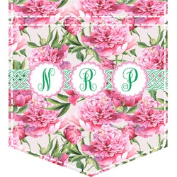 Watercolor Peonies Iron On Faux Pocket (Personalized)