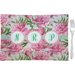 Watercolor Peonies Rectangular Appetizer / Dessert Plate (Personalized)