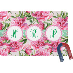 Watercolor Peonies Rectangular Fridge Magnet (Personalized)