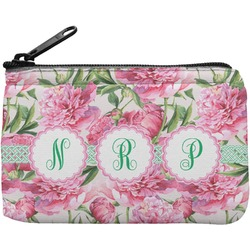 Watercolor Peonies Rectangular Coin Purse (Personalized)