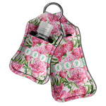 Watercolor Peonies Hand Sanitizer & Keychain Holder (Personalized)
