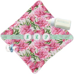 Watercolor Peonies Security Blanket (Personalized)