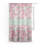 Watercolor Peonies Sheer Curtains (Personalized)