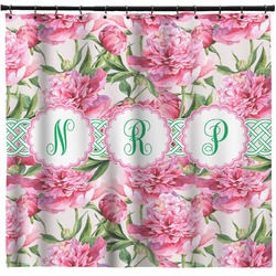 Watercolor Peonies Shower Curtain (Personalized)
