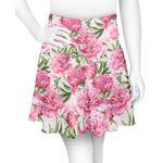 Watercolor Peonies Skater Skirt (Personalized)