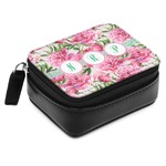 Watercolor Peonies Small Leatherette Travel Pill Case (Personalized)