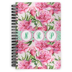 Watercolor Peonies Spiral Notebook (Personalized)