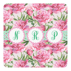 Watercolor Peonies Square Decal - Custom Size (Personalized)
