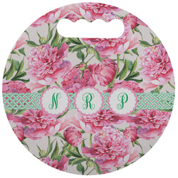 Watercolor Peonies Stadium Cushion (Round) (Personalized)