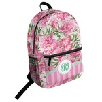 Watercolor Peonies Student Backpack (Personalized)