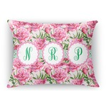 Watercolor Peonies Rectangular Throw Pillow Case (Personalized)