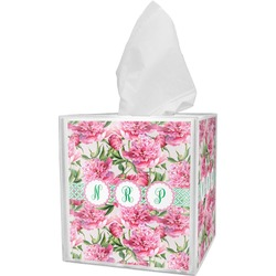 Watercolor Peonies Tissue Box Cover (Personalized)