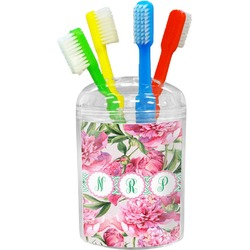 Watercolor Peonies Toothbrush Holder (Personalized)