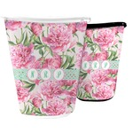 Watercolor Peonies Waste Basket (Personalized)