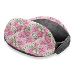 Watercolor Peonies Travel Neck Pillow