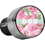 Watercolor Peonies USB Car Charger (Personalized)