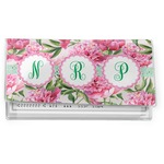 Watercolor Peonies Vinyl Checkbook Cover (Personalized)