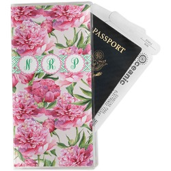 Watercolor Peonies Travel Document Holder