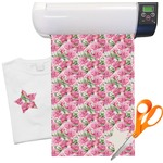 Watercolor Peonies Heat Transfer Vinyl Sheet (12