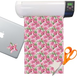 Watercolor Peonies Sticker Vinyl Sheet (Permanent)