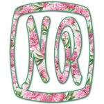 Watercolor Peonies Monogram Decal - Custom Sized (Personalized)