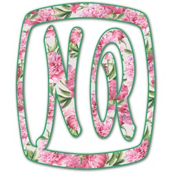 Watercolor Peonies Monogram Decal - Small (Personalized)