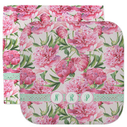 Watercolor Peonies Facecloth / Wash Cloth (Personalized)