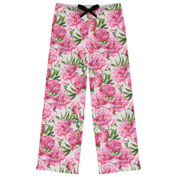 Watercolor Peonies Womens Pajama Pants (Personalized)
