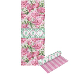 Watercolor Peonies Yoga Mat - Printable Front and Back (Personalized)